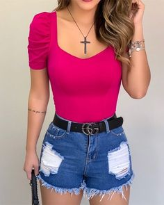 Trend Fashion, Fashion Outfits, Womens Fashion, Look Con Short, Blouse Online, Blouse Dress, Plus Size Blouses, Pattern Fashion, Diana