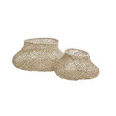 Arabella Set of 2 Baskets - Rattan Natural Twists, Soft Furnishings, Rattan, Decorative Bowls, Baskets, Crafts For Kids, Rust, Interior Design, Home Decor