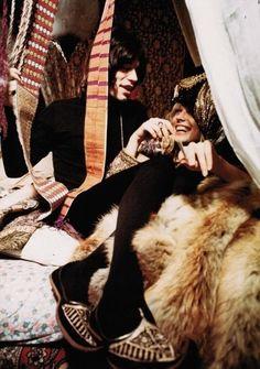 Anita Pallenberg and Mick Jagger {Performance 1970}