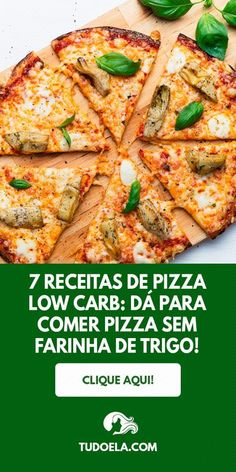 Want to learn how to prepare delicious pizzas without wheat flour and eat without blame? So take note of these 7 low carb pizza recipes! Healthy Low Carb Recipes, Low Carb Dinner Recipes, Diet Recipes, Snacks Recipes, Wrap Recipes, Pizza Recipes, Sauce Recipes, Pork Recipes, Seafood Recipes