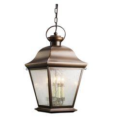 Kichler Lighting Mount Vernon 4 Light Outdoor Pendant in Olde Bronze 9804OZ