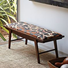 I so want a bench for the end of our bed. I am finding that they are either ugly, or expensive. And I've never seen one at Goodwill...    Kuba Crescent Bench - Patchwork   west elm