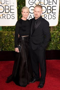 Robin Wright and Ben Foster Red-Carpet Looks From the 2015 Golden Globes -- Vulture Robin Wright, Hot Couples, Celebrity Couples, Celebrity News, Celebrity Style, Golden Globe Award, Golden Globes, Fashion News, Fashion Show