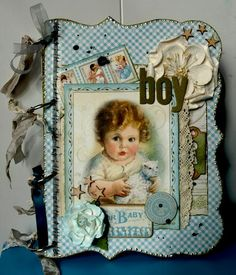 Vintage Boy mini album...adorable!