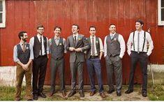 mismatched grooms men