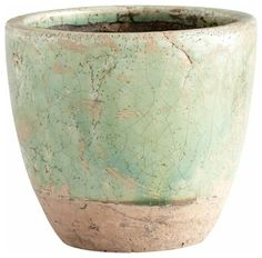 Green Glaze Pottery Petra Planter