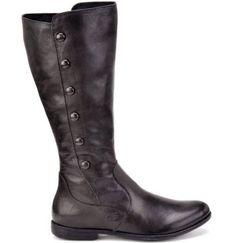 NEW BORN Womans Sage Black Leather Tall BOOTS Size 6 #Brn #FashionKneeHigh