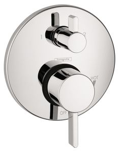 Hansgrohe 04447 S Pressure Balanced Valve Trim with Integrated Diverter - Less V Chrome Faucet Valve Trim Only Double Handle