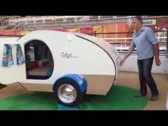 Gidget Retro Teardrop Camper set up in under a minute. Here's the video - Australia made Gidget Retro Teardrop Camper, Teardrop Caravan, Tiny Camper, Teardrop Campers, Family Camping, Rv Camping, Campsite, Family Travel, Glamping