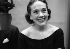 Julie rehearsing for The Boyfriend in 1954-1955