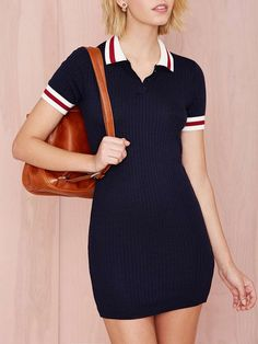 moda de chicas otoño invierno 2014 2015 Get Prepped Sweater Dress - Day Polo Dress Outfit, Navy Dress Outfits, Casual Outfits, Sweater Dresses, Vestidos Polo, Tommy Hilfiger Mujer, Camisa Polo, Tennis Clothes, Preppy Style