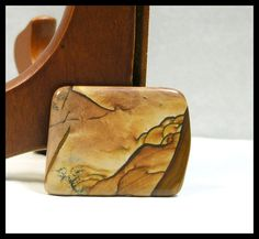 Rectangle Deschutes Jasper Focal Bead by GemsoftheNorthwest, $35.00