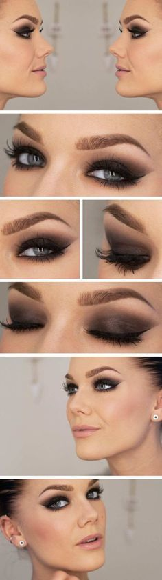 Smokey eyes for blue eyes - make-up tips and instructions Smokey Eye . - Smokey eyes for blue eyes – make-up tips and instructions Smokey eye look for blue ey - Love Makeup, Makeup Inspo, Makeup Inspiration, Makeup Ideas, Makeup Tutorials, Cheap Makeup, Daily Makeup, Gorgeous Makeup, Perfect Makeup