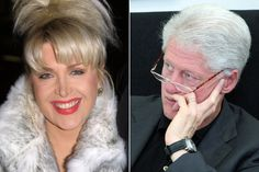 During Clinton's 1992 Presidential election campaign, Gennifer Flowers made it known that she had a torred affair with the presidential hopeful for the last 12 years. Description from therichten.com. I searched for this on bing.com/images