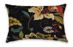 Black Gold Lumbar Decorative Pillow Cover by CodyandCooperDesigns, $40.00