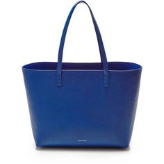 Mansur Gavriel Large Tote In Royal with Royal Interior ($675) ❤ liked on Polyvore featuring bags, handbags, tote bags, real leather purses, leather purse, leather tote bags, leather tote and genuine leather tote
