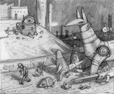 Development work for 'Rules of Summer' by Shaun Tan  LAS REGLAS DEL VERANO ISBN: 978-84-15208-46-4