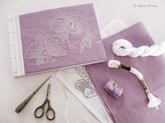 #Blackwork design: Orchids. Designed and stitched by Valentina Sardu for Ajisai Designs