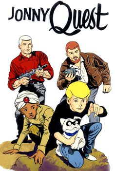 Jonny Quest ,  his dog,  Bandit!  Watched it on WSNS Ch 44 out of Chicago in black and white!