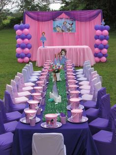 55 ideas baby girl birthday party ideas first princess sofia First Birthday Party Supplies, Sofia The First Birthday Party, First Birthday Party Decorations, Unicorn Birthday Parties, Girl Birthday, Sofia Birthday Cake, Sofia The First Cake, Tangled Birthday, Princess Sofia Birthday