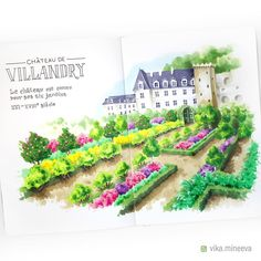 "575 Likes, 17 Comments - Vika Mineeva (@vika.mineeva) on Instagram: ""✏️ Ещё один замок долины Луары — Вилландри. Известен не столько замок, сколько обилие окружающих…"""