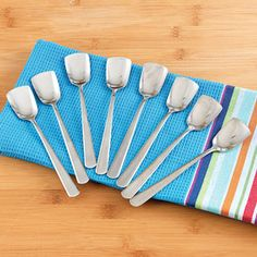 Shop Stainless-Steel Ice Cream Spoons, Set of 8 at CHEFS.