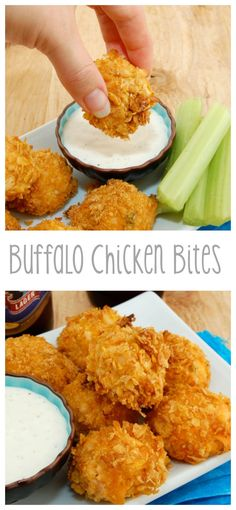 oven baked, not fried! - Appetizer Recipes - Buffalo Chicken Bites…oven baked, not fried! The Effective Pictures We Offer You About - Appetizer Recipes, Snack Recipes, Cooking Recipes, Snacks, Appetizers, Tailgating Recipes, Dessert Recipes, Tapas, Buffalo Chicken Bites