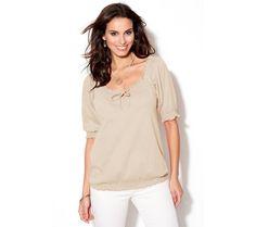Tričko se 3/4 pružnými rukávy   modino.cz #modino_cz #modino_style #style #fashion #halenka #tunika #kosile
