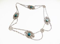 Art Deco Necklace Victorian Revival Silver by IfindUseekVintage, $90.00