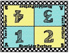 cooperative learning table mat freebie