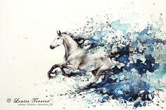 """Celerity"" / 30,5x45,5cm / india ink Artist : Louise TERRIER / France More on : https://www.facebook.com/pages/LOUISE-TERRIER-Artiste-peintre-Officiel/101011090074245"