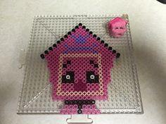 Shopkins Pup-E-House perler beads creation