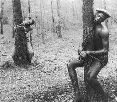 Whites sometimes used this act for punishment on slaves, striping them and tying them up with chains