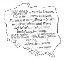Learn Polish, Independence Day Decoration, Everything And Nothing, School Decorations, Art Lessons Elementary, Early Education, Kids And Parenting, Motto, Coloring Pages