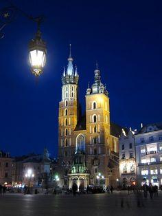 Krakow, Poland, St. Mary's Basilica by Kentarojapan