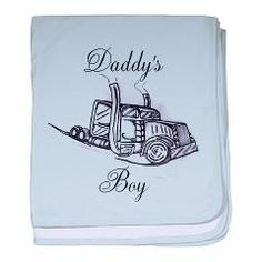 Daddy's Boy baby blanket > Infant Apparel and more > The Art Studio by Mark Moore