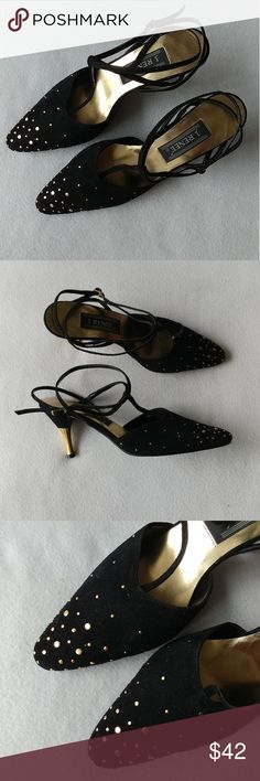 Studded Heels - J. Renee Condition: Excellent Material: Upper Leather, Man made sole Size: 7 Heel height: 2.5in  NOTE Absolutely stunning. Heel tips are in great condition. No stuffs, stains, or missing studs. Wonderful for a night out!! J. Renee Shoes Sandals