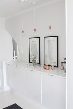copper details with black and white decor
