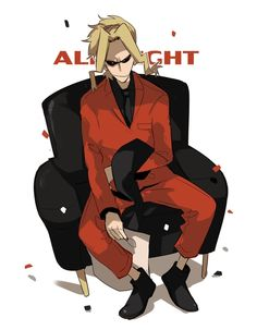 Pixiv Id 5086155, Boku no Hero Academia, All Might, Chair, Sitting On Chair