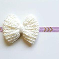 15e5e582d Crochet Big Bow Arrow Headband Hair Accessory Newborn Baby Infant Toddler  Child Adult Photography Photo Prop Handmade Baby Shower Gift Present