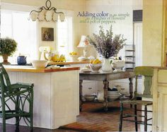This is my very first kitchen!! . The hardest thing to find are good looking bar stools.  I found these bar stools on one of my buying trips to the Adirondaks.  The paint on them was perfection.