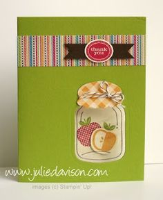Julie's Stamping Spot -- Stampin' Up! Project Ideas Posted Daily: Perfectly Preserved Window Card
