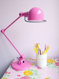 Pink lamp from the old bedroom