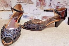 bd3ac2cdca9 Progetto Glam Sandals Black Patent Leather Sz 37 US 7 handmade Italian  Designer  ProgettoGlam