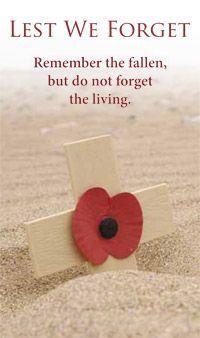 Remembering the fallen.