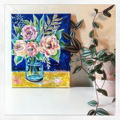 #flowerpainting #floralpainting #acrylicpainting #florals #artwork #painting Florals, Colorful, Night, Artwork, Painting, Floral, Work Of Art, Flowers, Painting Art