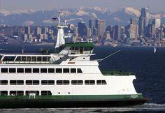 Larry Steagall     Kitsap Sun The Washington State auto ferry Wenatchee heads towards Bainbridge Island from Seattle.