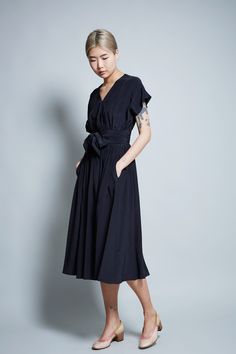 No.6 Scarlett Wrap Dress in Black