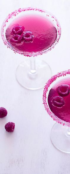 Very Pink Raspberry Cosmopolitan. Stylish choice for a 50th birthday party!