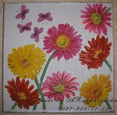 Painting Gerbera Home decor Art December trends by RannyGifts